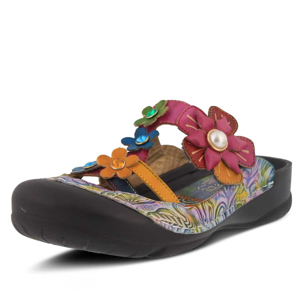 L'Artiste by Spring Step Women's Icaria Sandals B079NSJWQH 38 M EU|Navy Multi