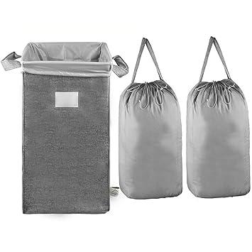 Amazon.com: MCleanPin - Cesta para la colada plegable con 2 ...