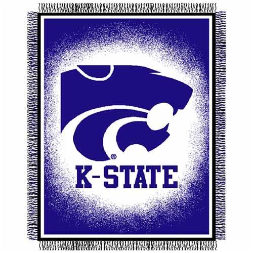 The Northwest Company Kansas State Wildcats NCAA 48x60 Triple Woven Throw Blanket (Focus Series)