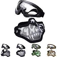 Fansport Máscaras Airsoft, Airsoft BBS Airsoft Mesh Máscara Máscara táctica Máscaras Media con máscaras Set Paintball…