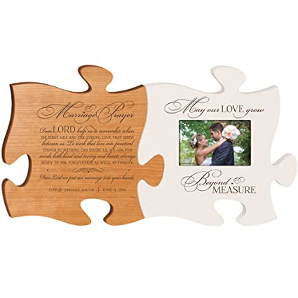 wedding photo frame personalized wedding gift marriage prayer plaque with may our love grow