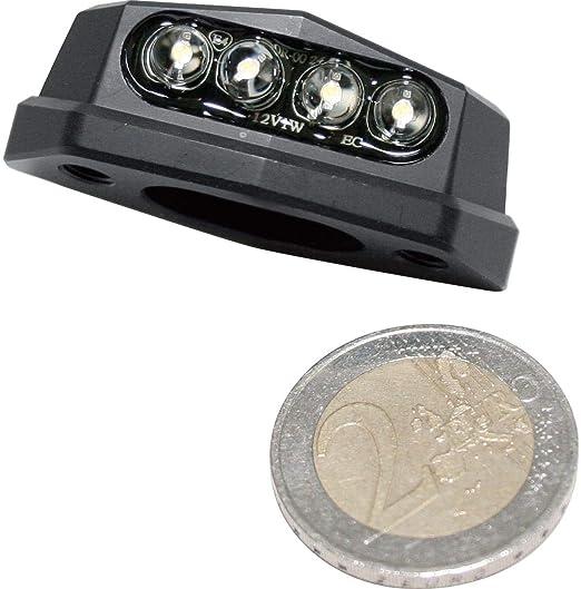 Motorrad LED Nummernschildbeleuchtung schwarz E-gepr/üft