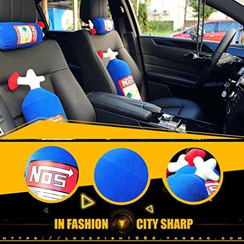 NOS Travel Pillow,Jacksuper Super Cool Memory Foam Car Decor Head Back Rest Sofa Cushion Toy Gift (Backrest)