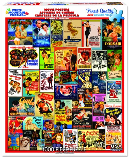 WHITE MOUNTAIN Puzzles - Classic Movie Posters - 1,000 Piece Jigsaw -