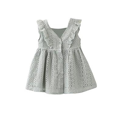 ❥Elecenty Prinzessin Baby Kleid,Kinder Mädche Kleider Rüschen ...