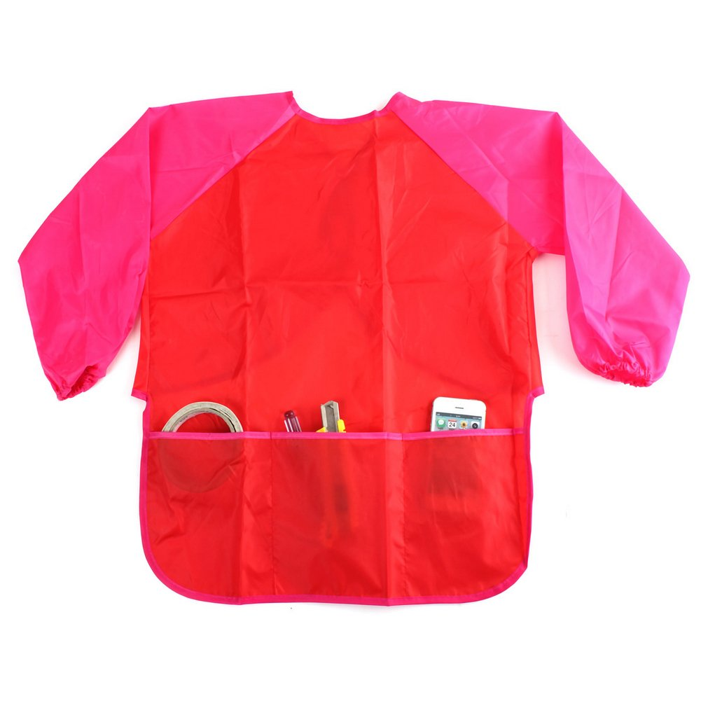 Waterproof Kids Long Sleeve Painting Drawing Artist Apron Smock with 3 Pockets for 3-8 Years Old Children by styleinside-uk