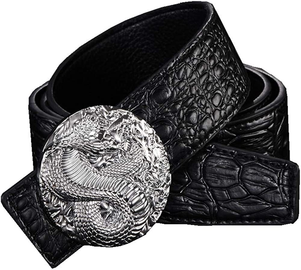 Belts MenS Belt Dragon Buckle Dermal Personality Fashionable Person Simple Waistband