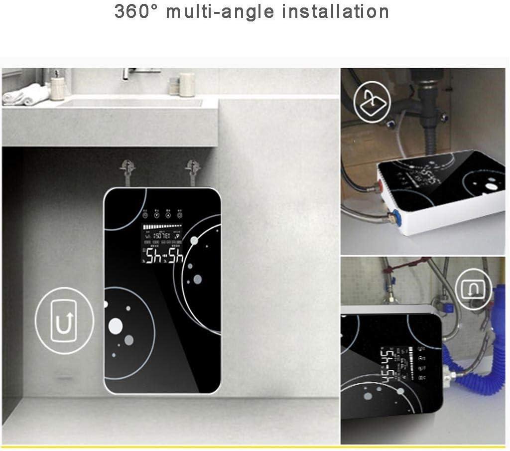 Noir Etc. ZXR-Water heater Roscloud Bain Chauffe-Eau /éLectrique Instantan/éE Vitesse 220 V Douche Chaude Machine Rapide Thermostat Chaud 8000w pour H/ôTel De Salle De Bain De Cuisine