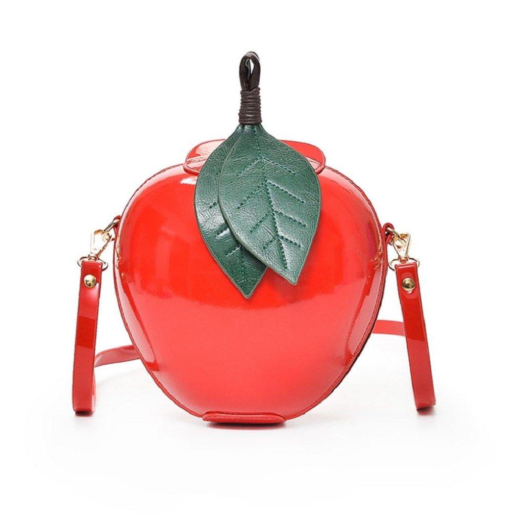 Kinrui Hot Sell Women Fashion Apple Handbag Zipper Bag Shoulder Bag Tote Ladies Messenger Bag (Red)