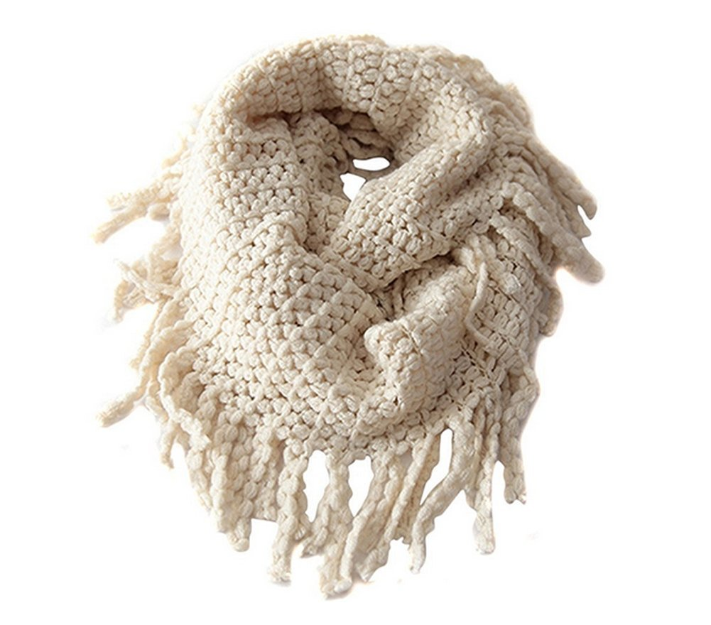 Unisex Baby Kids Boys Girls Warmer Winter Thick Knit Wool Soft Scarf Neck Long Scarf Shawl (Beige) erioctry