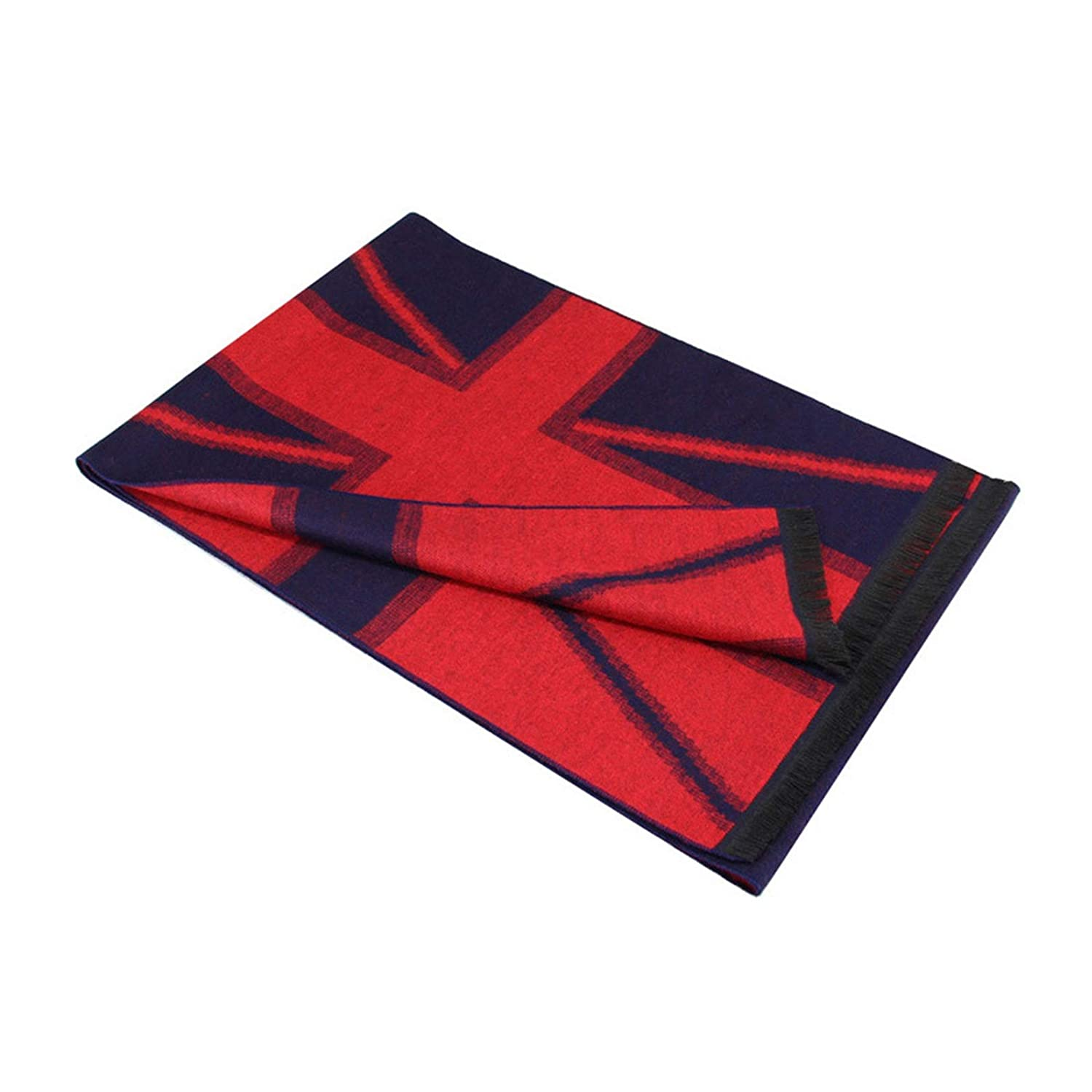 72 x 12 inch Cozy Soft Cotton US UK Flag Scarf for Men Women Gnzoe Scarf Winter Warm