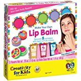Creativity for Kids Make Your Own Lip Balm Kit  Makes 5 Lip Balms  Includes Customizable Containers and Handy Carrying Case  Ages 7 and Up