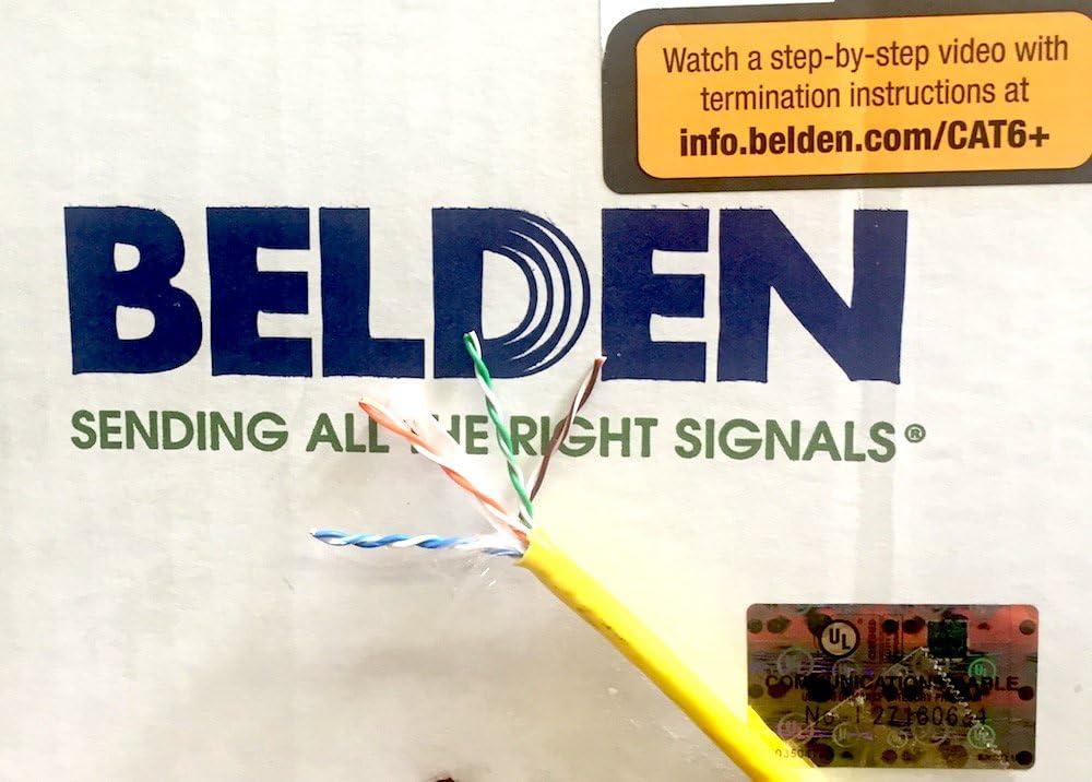 Belden 2412 004100 Yellow Cat 6 100 Feet