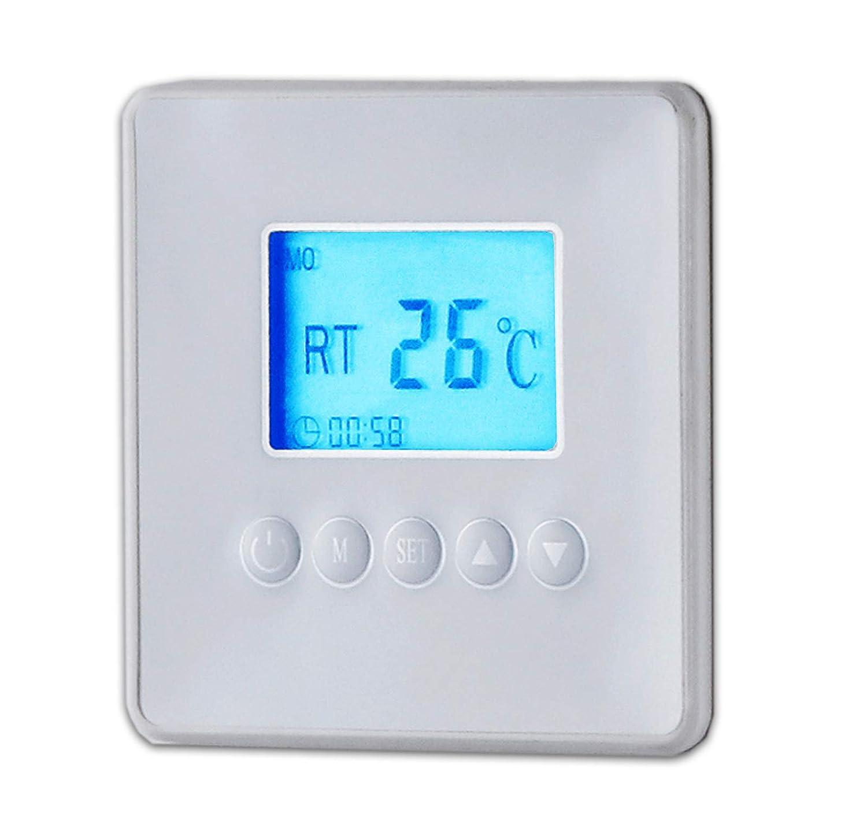 Infrarotheizung Wandheizung Heizung Heizpaneel mit Timer und LCD Display Digital Infrarot Heizung Heizk/örper Inkl.Standf/ü/ßen DMS/® 60 x 60 x 1 cm 425 Watt