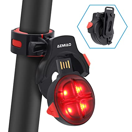 Amazon.com : AEMIAO LED Bike Tail Light - Wireless USB