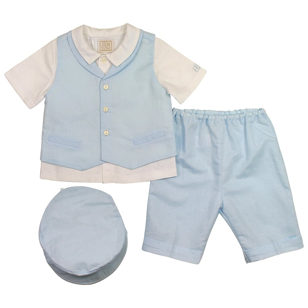 Emile et Rose Gilbert 3pc Short Set Pale Blue