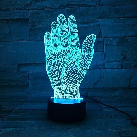 wangZJ 7 Luz de noche de cambio de color/Lámpara de mesa LED ...
