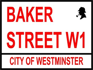 London Street Sign Baker Street Office Company School Hotel Metal Signs Outdoor Rust-Free UV Protected and Weatherproof Aluminum