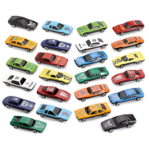 Kicko 24 Pice Diecast Toy Cars 1 to 64 Scale Premium Quality Assorted Colors - Party Favor, Prize