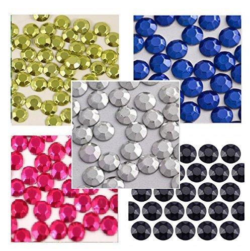 New ThreadNanny 7000 - 4mm 20ss Hot Fix Metal Rhinestuds - 5 Colors ()