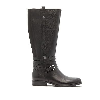 Naturalizer Jango Leather Riding Boot Metallic Studs Full Black 6W New  573-386
