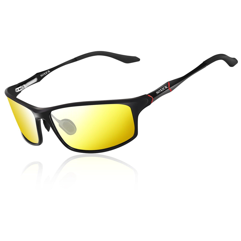 21f25d3550f Soxick Night Driving Glasses Anti Glare Polarized Safe Night Vision  Sunglasses