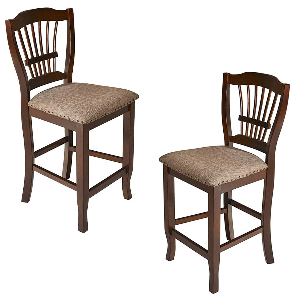 New Classic Bixby Counter Chair, 2-Pack, Espresso