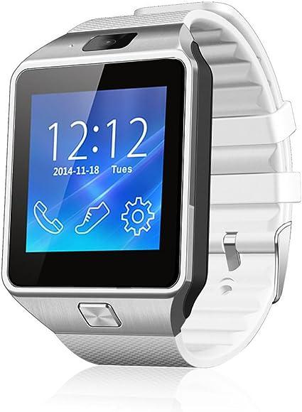 Netspower diseño DZ09 Bluetooth Reloj Inteligente Pulsera del Abrigo Reloj teléfono para Smartphone Android Samsung S3 / S4 / S5 Nota 2 / Nota 3 Nota 4, HTC, Sony (DZ09 Blanco): Amazon.es: Informática
