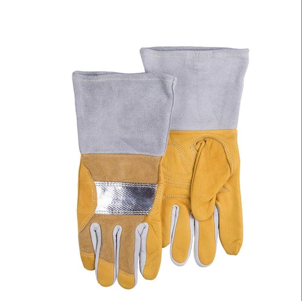 Multifunctional argon arc welding welder gloves anti-oil sweat anti-heat reflective aluminum comfortable welding protective gloves , xl
