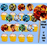 Ninjago Ninjas Only Solos Kids Video Game Cupcake Picks Cake Topper -12 pieces