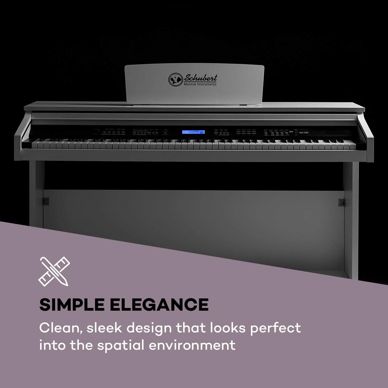 Schubert Subi 88 MK II • Piano digital • Teclado eléctrico de 88 teclas • MIDI • USB • 360 sonidos • 160 ritmos • 80 canciones demo • Pantalla LCD ...