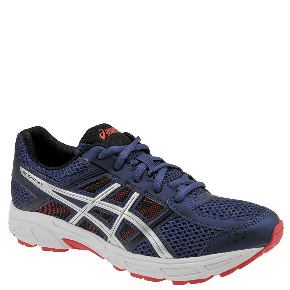 ASICS Boy's, Gel Contend 4 GS Running Sneakers Blue Silver 4.5 M