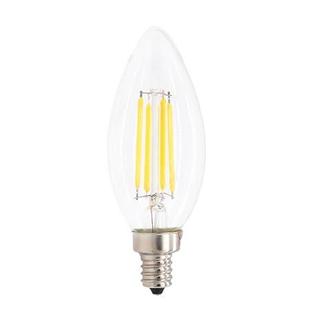 mklot 110 V E14 4 W Hogar candelabro de filamentos LED bombilla luz blanca cálida lámpara ...