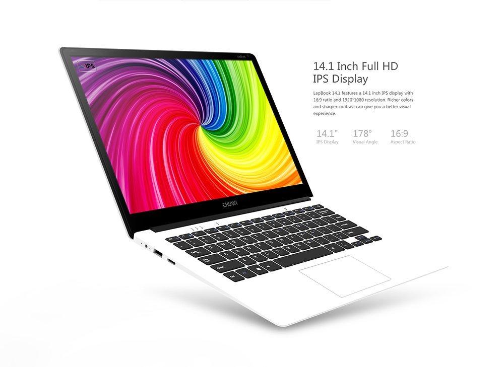 Chuwi - Ordenador portátil, 15,6 pulgadas, pantalla FHD, Windows 10, sistema dual, 4 GB RAM y 64 GB ROM Quad Core, enchufe europeo APOLLO LAKE N3450: ...