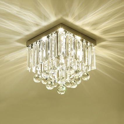 candelabro Lámpara - Luz de Techo de Cristal - Moda Corredor ...