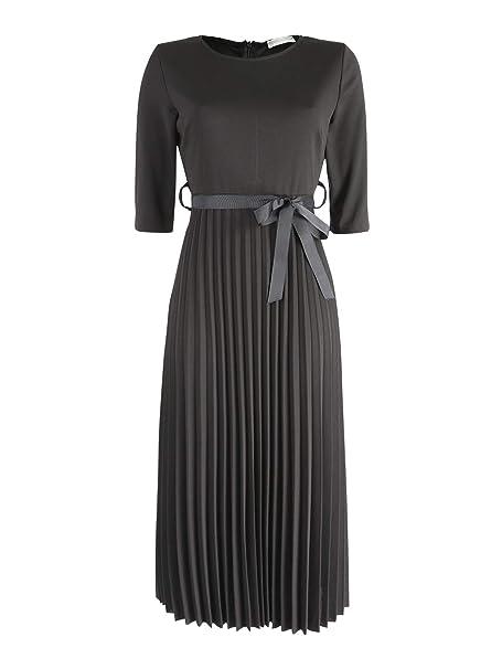 f2483c571065 New Collection Vestito Lungo Plissettato Donna Nero Sintetico  Amazon.it   Abbigliamento