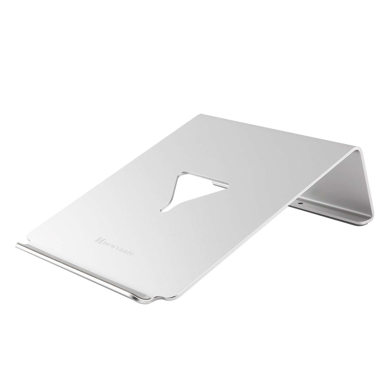 NNEWVANTE Laptop Stand Aluminum Ventilated Ergonomic 16°Pad Holder Universal Compatible for Laptop MacBook Notebook iPad (Silver)