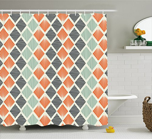 Compare Price To Grey And Orange Shower Curtain Dreamboracaycom