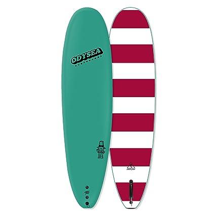 Amazon Com Odysea Catch Surf Plank Single Fin Longboard Soft Top