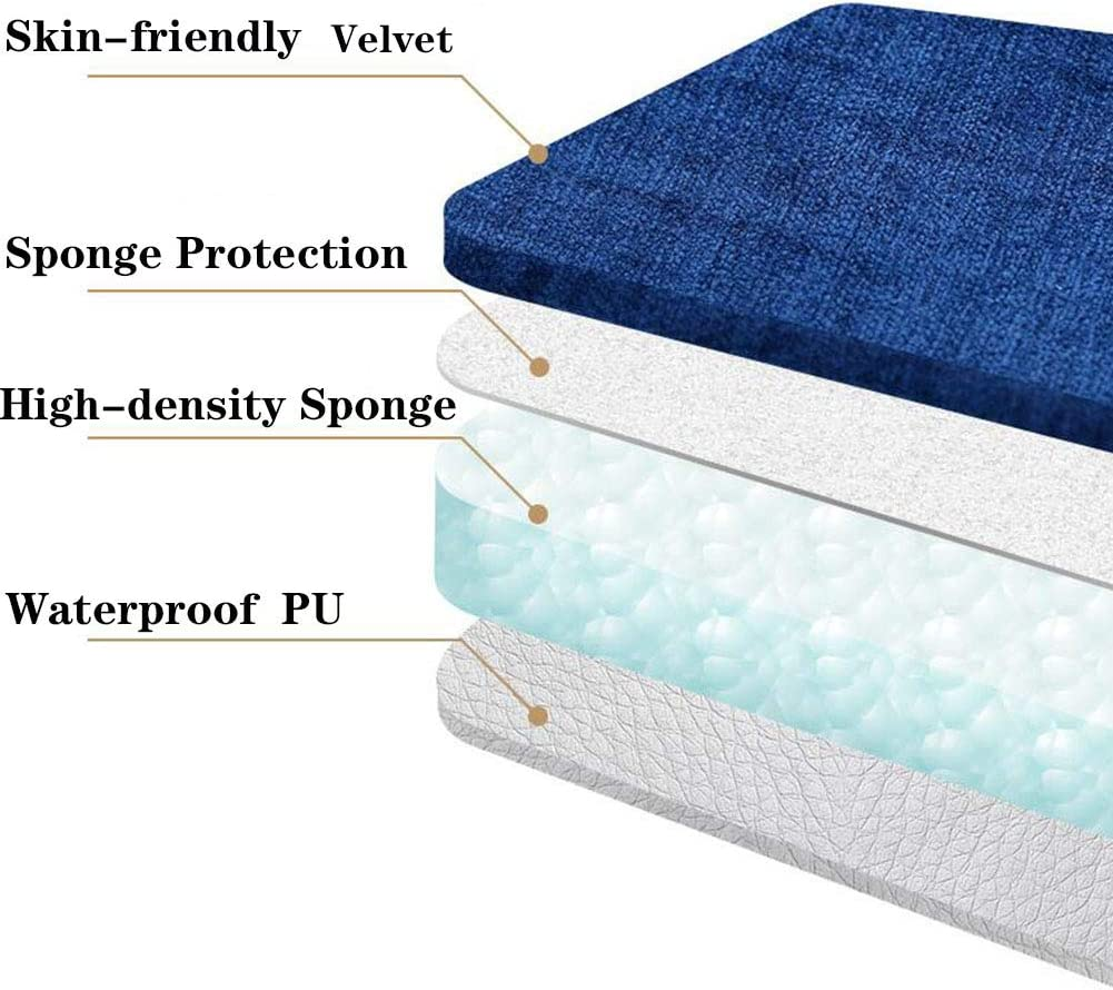 XIAOMEI Square Toilet Seat Cover Pads Zipper Handle Portable Velvet Soft Warmer Toilet Seat Cover Pads Thicker Not-Slip Reusable A 44x36cm 17.3x14in