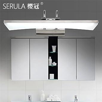 QWER LED-Spiegel vorderen Leuchte moderne Edelstahl Spiegelschrank ...