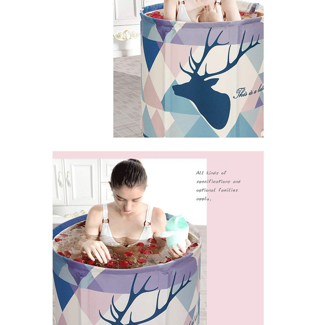 YONGYONG European-Style Adult Folding Bath Barrel Convenient PVC Household Bathtub 65cm*70cm (Color : A) by Yongyong (Image #5)
