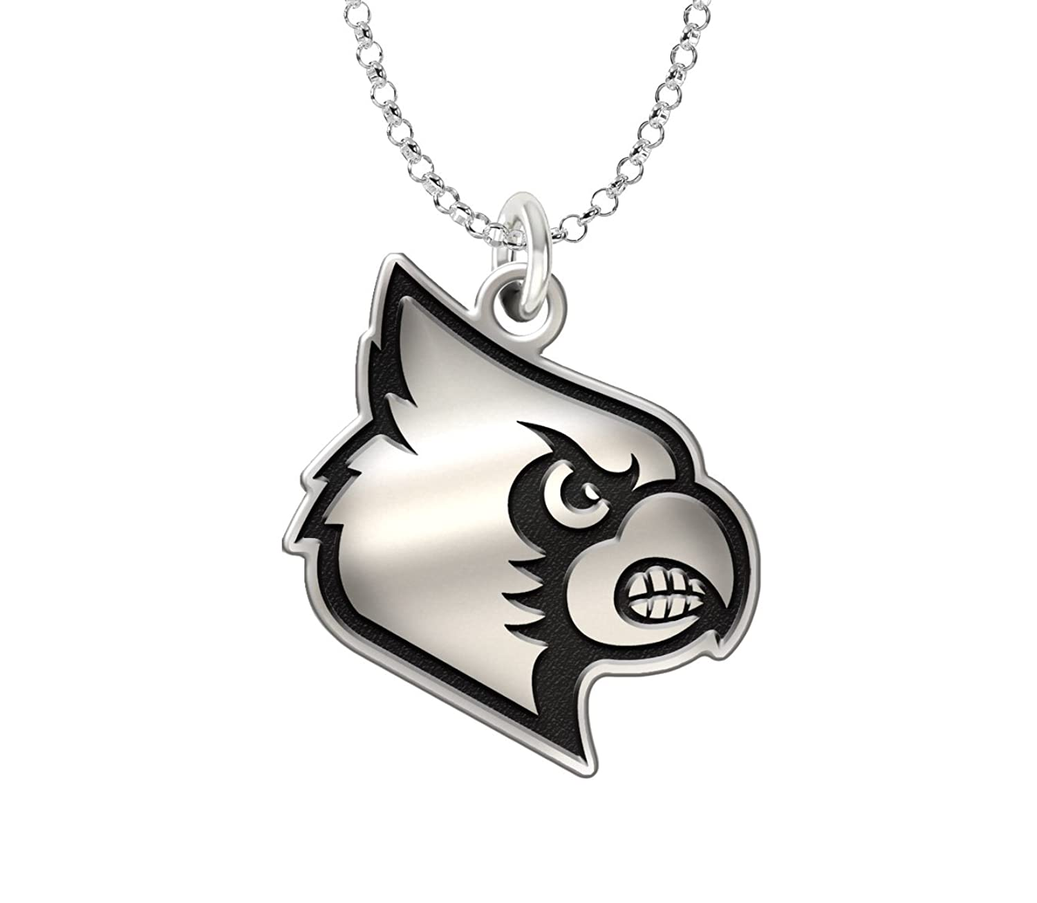 Home college tulane green wave tulane green wave silver plated - Amazon Com Louisville Cardinals 1 Charm Necklace Antique Finish Sterling Silver Jewelry