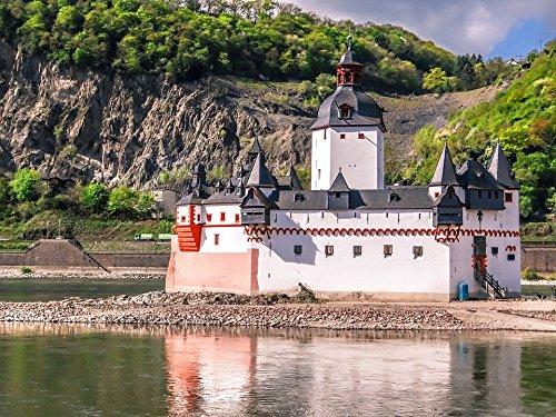 Home Comforts Framed Art for Your Wall Rhine River Castle Castle Pfalzgrafenstein 10x13 Frame (Rhine Framed River)