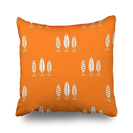 Amazon.com: Throw Pillow Covers Plastic Fishing Lure Repeat ...