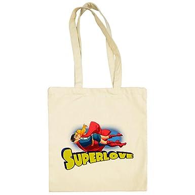 Diver Camisetas Bolsa de tela Super Love - Beige, 38 x 42 cm ...