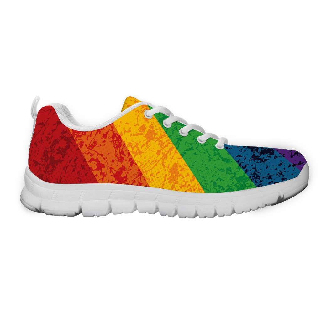 Gnarly Tees Men's LGBTQ Sneakers 6 D(M) US|White