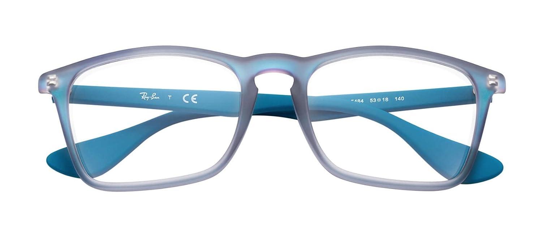f689ec7b9f0d Amazon.com  Ray-Ban Eyeglasses RX7045 5484 Azure Iridescent 53 18 140   Clothing