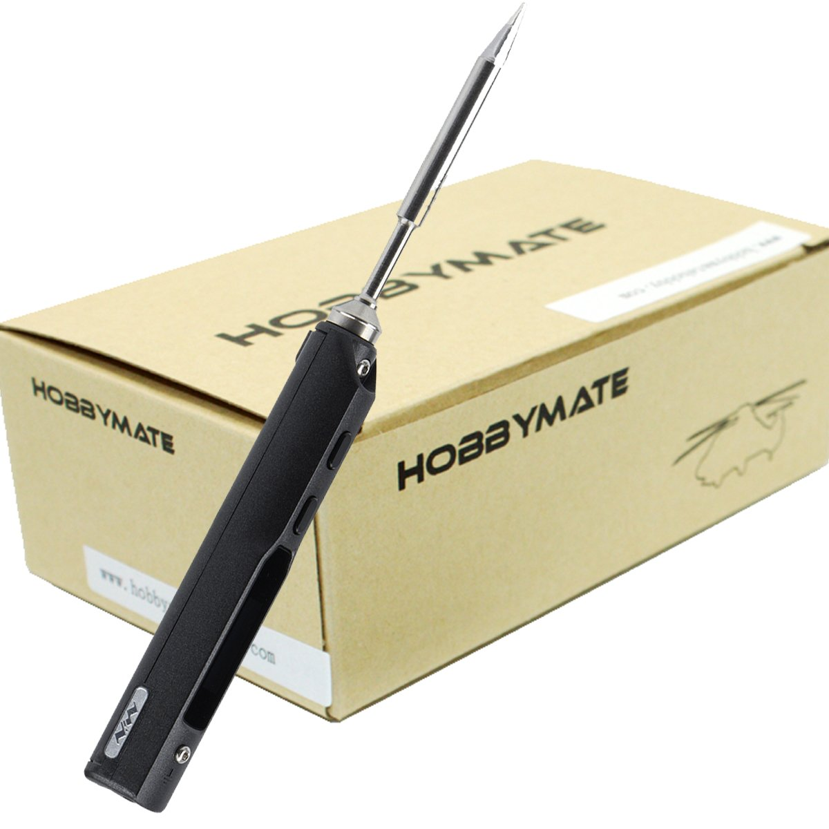 HOBBYMATE TS100 Pocket size Portable Solder Iron w OLED Display Support AC DC Input Fast Heating Soldering Iron B2 tip