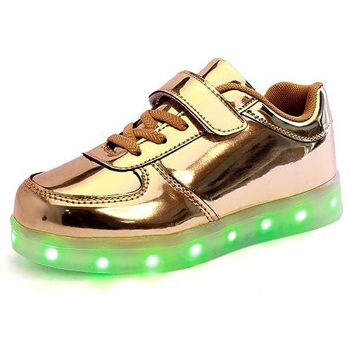 DoGeek Zapatos Led Niños Niñas 7 Color USB Carga Deportivas De Luces Zapatillas(Mejor Pedir una Talla Más): Amazon.es: Zapatos y complementos